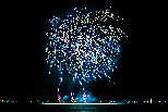 Feuerwerk blau